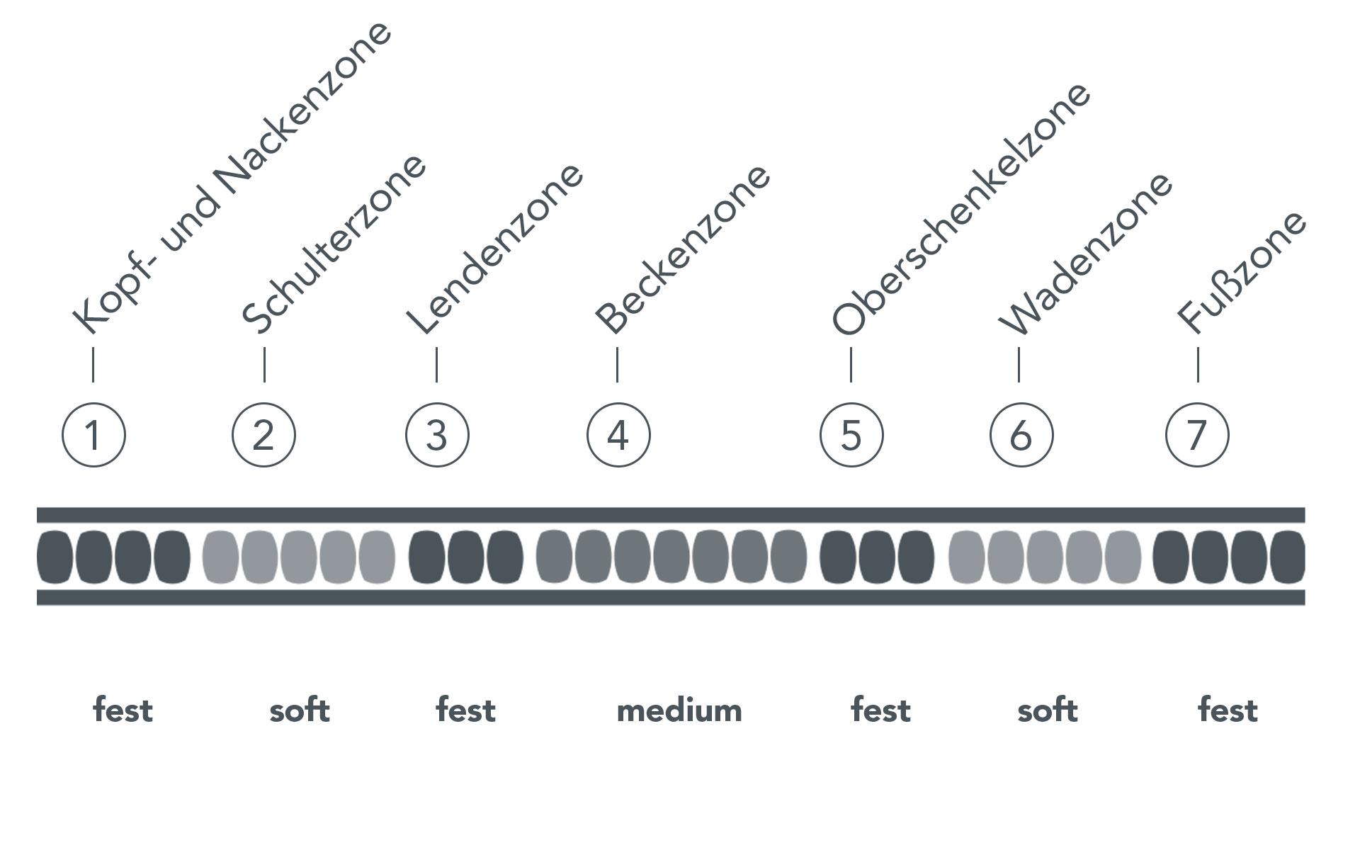 7-Zonen Matratze erklärt